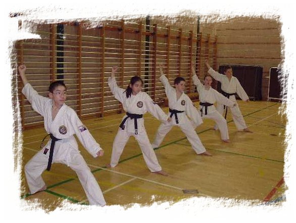 Black Belts doing kata